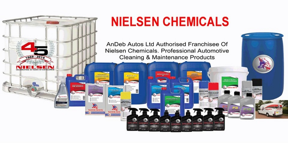 Nielsen Chemicals group picture vehicle automotive valeting cleaning products