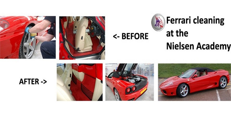 Nielsen Chemicals Ferarri cleaning vehicle automotive valeting cleaning products